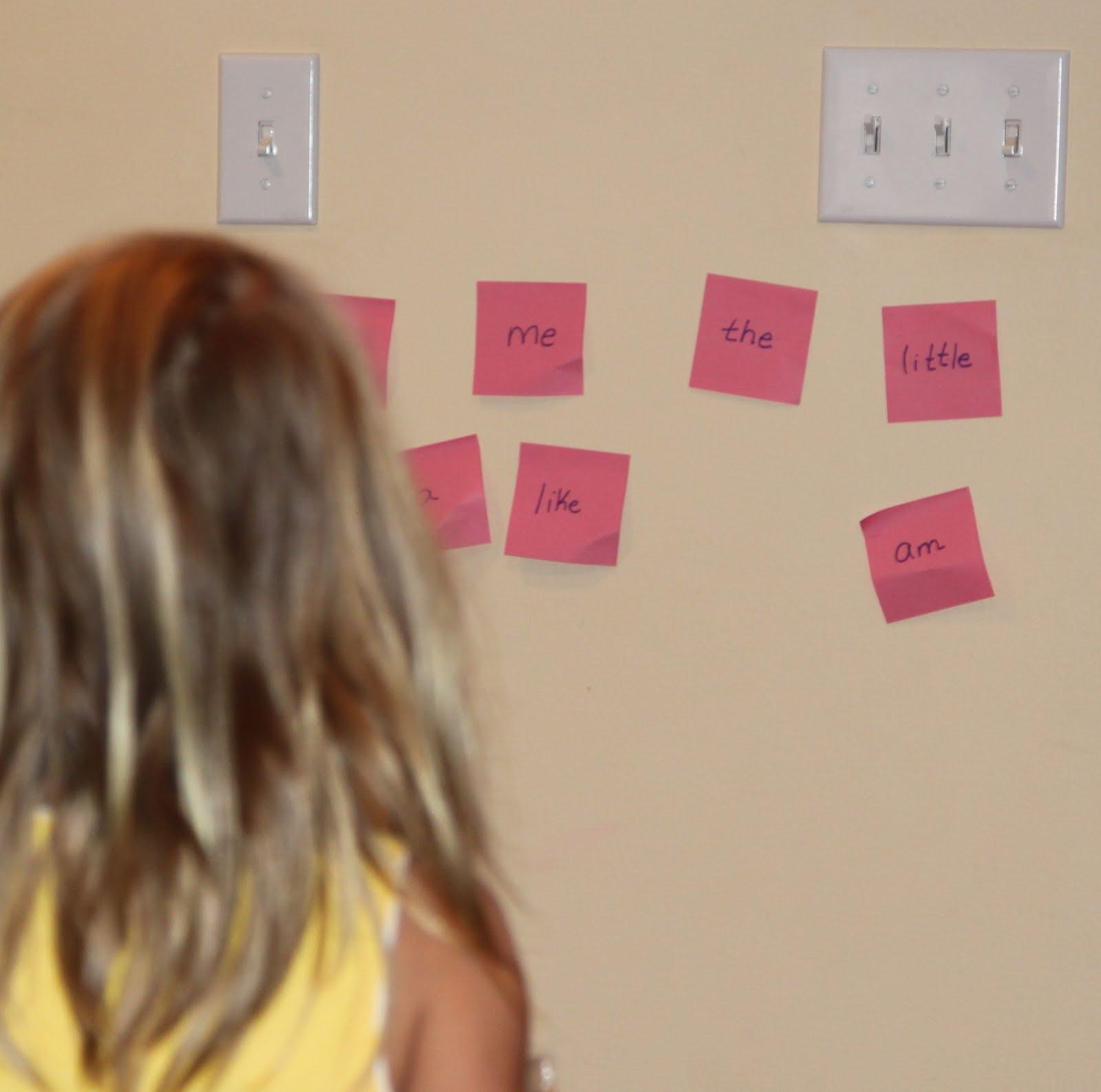 Kindergarten Sight Words Post Its