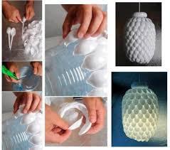 Kerajinan Tangan Dari Barang Bekas Botol Aqua, Lampu Hias