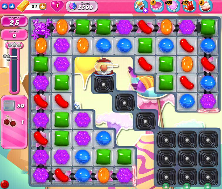 Candy Crush Saga level 2509