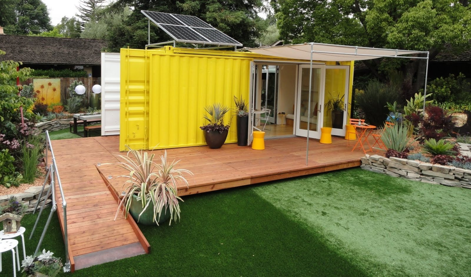 shipping container homes sunset cargotecture home very nice isbu. Black Bedroom Furniture Sets. Home Design Ideas