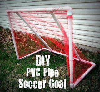 Ideas con tubos de PVC - arco de futbol