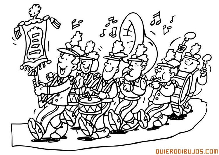 Musica Fuente Santa Banda De Música Para Colorear