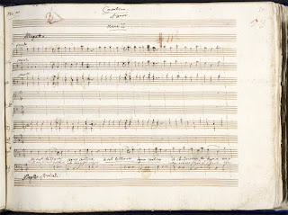 """Manuscrito de la Cavatina del acto segundo de """"Le nozze di figaro"""", KV. 492."""