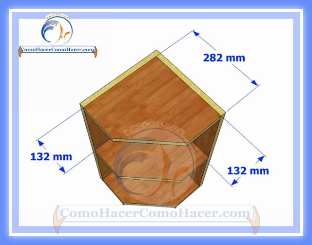 Esquinero de cocina plano y medidas  Web del Bricolaje Diseño Diy