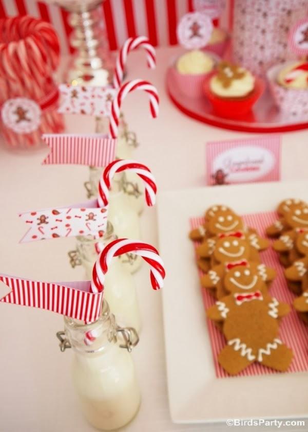 Christmas Candyland Candycane Milk - BirdsParty.com