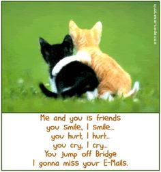 me and you us friends you smile, i smile.