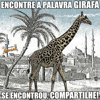 Teste de visão: Encontre a palavra Girafa