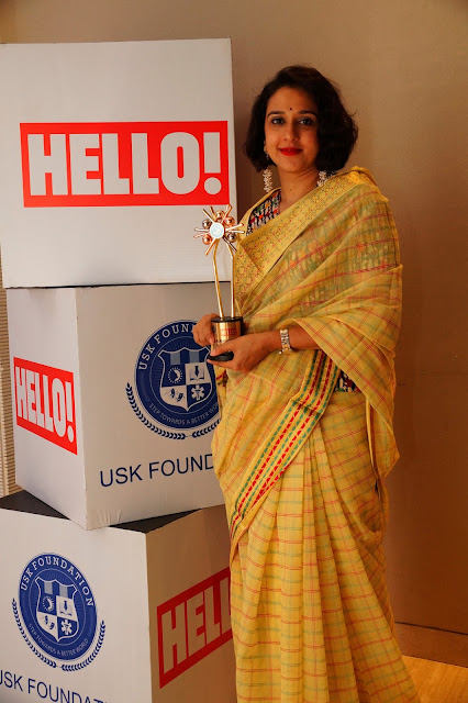 Her highness Radhika Raje Gaekwad with URJA Awards trophy