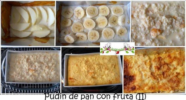 Pudin de pan con fruta