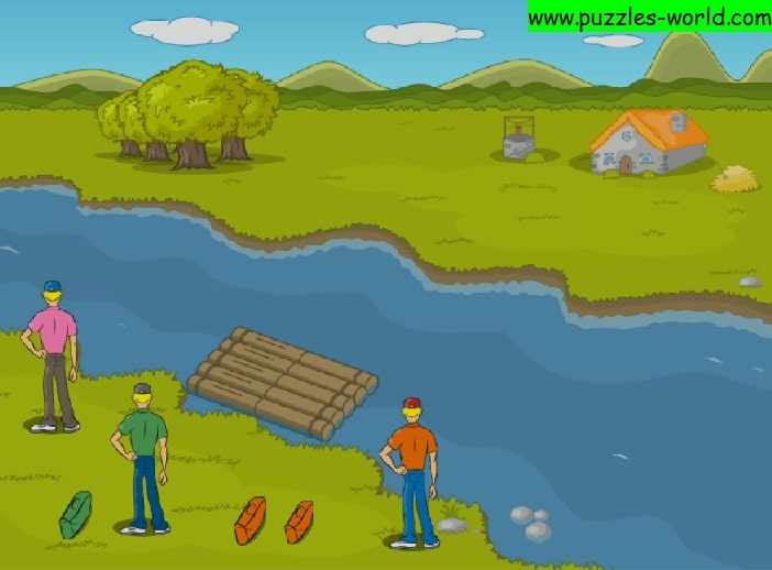 River Crossing Puzzle - Three Travelers puzzle