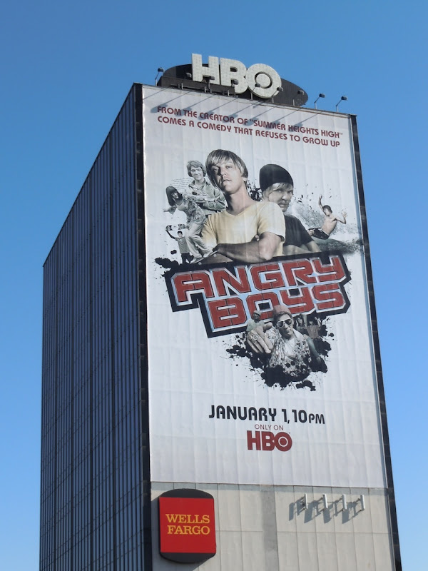 Giant Angry Boys TV billboard