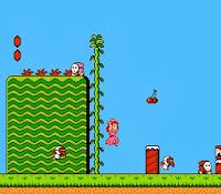 Imagen : Un momento del juego (Super Mario Bros 2)
