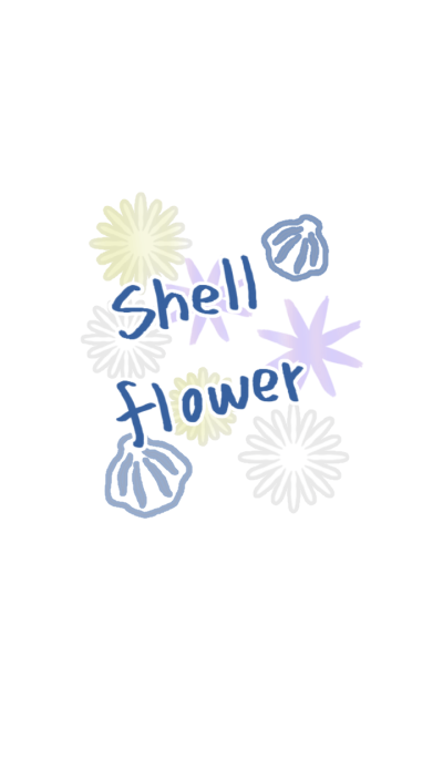 Shell flower blue and adult ver.