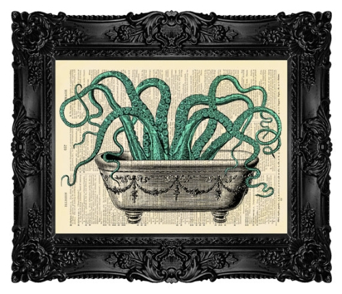 Bathroom octopus wall decor