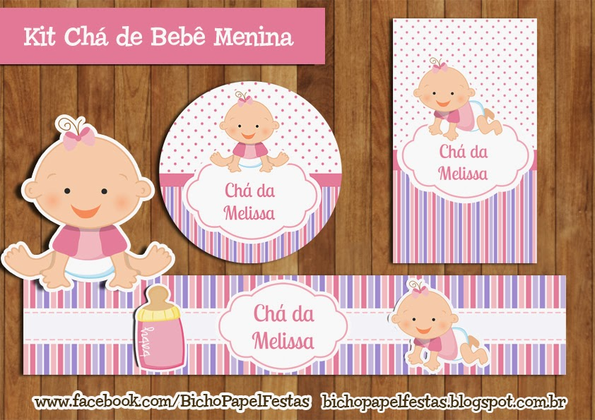 Kit Chá de Bebê Menina