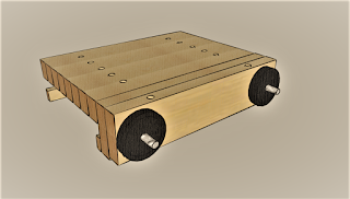 Sketchup drawing of a portable workbench