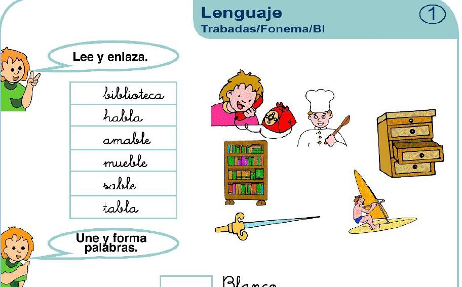 Dibujos Con La Trabada Br: SPANTEXAS: Palabras Trabadas Fl,bl,cl