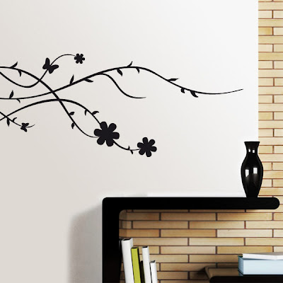 vinilo decorativo para pared floral