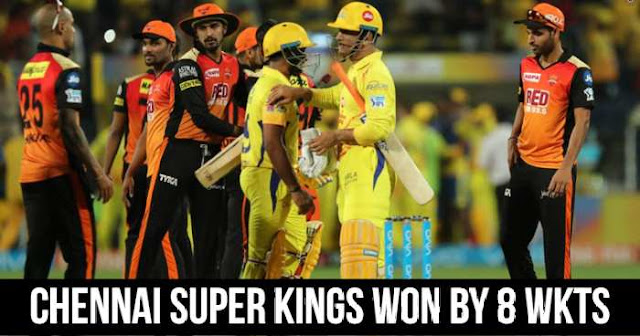 Chennai Super Kings won by 8 wickets