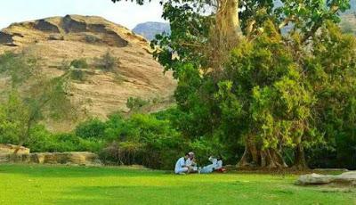 Pengunjung bisa bersantai di Al Reath