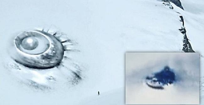 Φωτογραφίες της Ανταρκτικής δείχνουν ένα αντικείμενο παρόμοιο με ένα «ιπτάμενο πιατάκι» (vid)