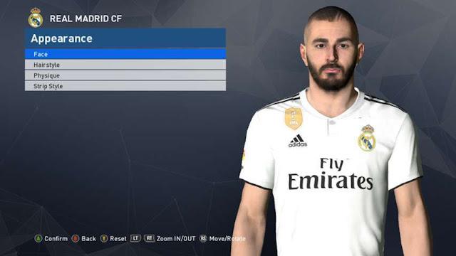 Karim Benzema New Face PES 2017
