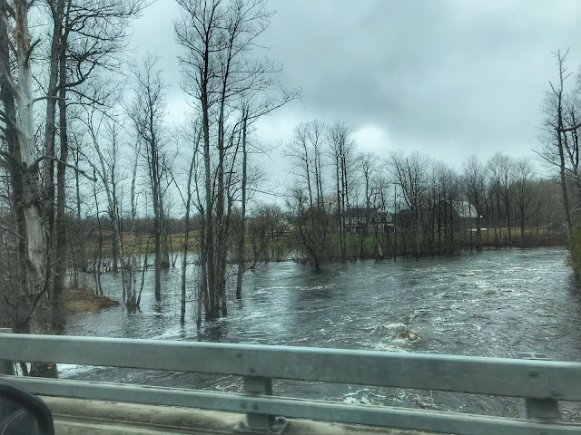 waters are rising in Maine as the massive amounts of snow melts, Linneus, Maine, Alice Hendon