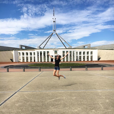 Jumping Photo at Parliament House