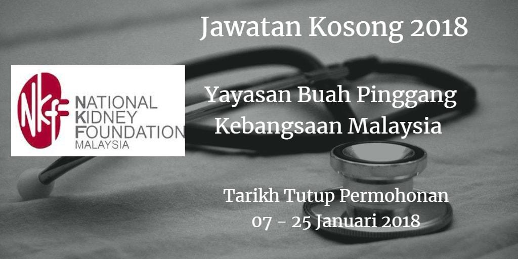 Jawatan Kosong NKF 07 - 25 Januari 2018