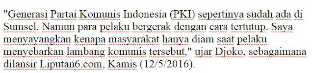 Mantap Pak Kapolda Kami dukung 100% Kapolda Sumsel : Pelaku penyebaran atribut PKI bisa dihukum mati ! - Naon Wae News