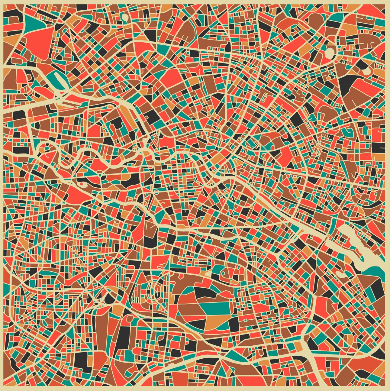 ©Jazzberry Blues - City Maps. Ilustración | Illustration