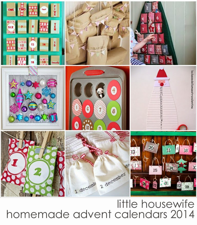 Advent Calendar Ideas Homemade : Little housewife hand made advent calendar ideas
