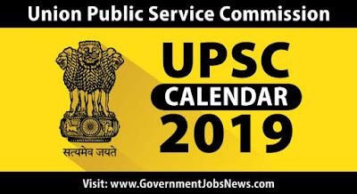 UPSC-Calendar-2019-Exam-Schedule-Date-Download-PDF