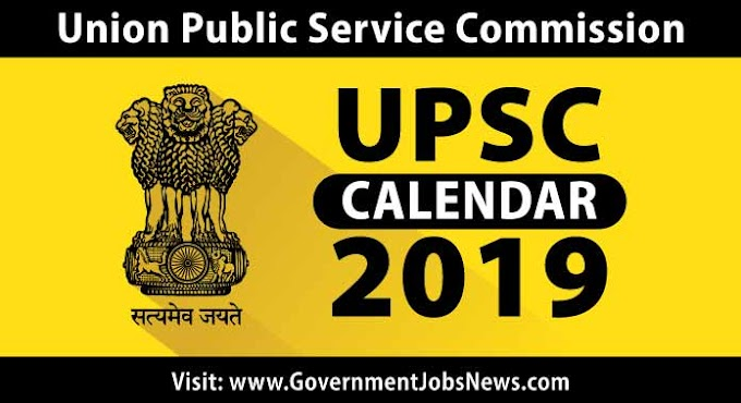 UPSC Calendar 2019 Exam Schedule Date Download PDF