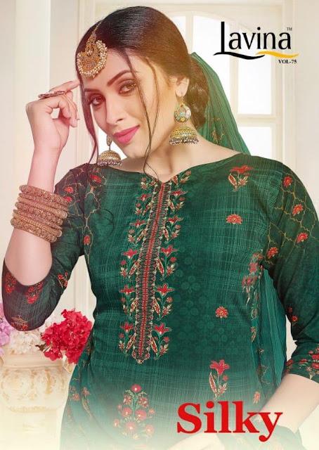 Lavina vol 75 Silk Salwar Kameez wholesale