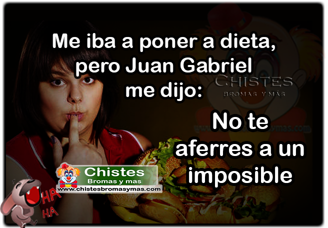 Me iba a poner a dieta, pero Juan Gabriel me dijo: No te aferres a un imposible