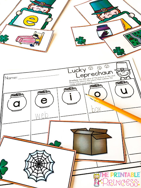 You are going to love these St. Patrick's Day activities for little learners! Your preschool, Kindergarten, and 1st grade students will love them too! Click through to grab your FREE downloads, and make sure to check out the math and literacy activities. Plus there's a great list of St. Patrick's Day books you can read the entire month of March. Graphing, counting, CVC words, nonsense words, and MORE can all be found here! Saint Patricks Day ideas galore!! (And remember the freebies!)
