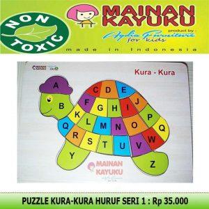 Puzzle Kura-kura Huruf