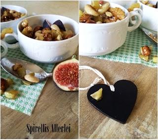 kandierte Äpfel und Nüsse