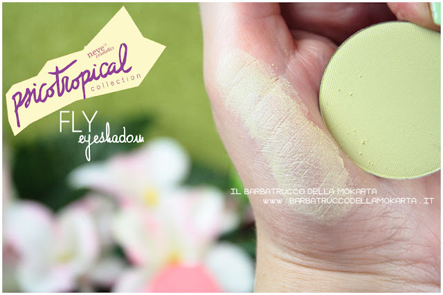 eyeshadow ombretti FLY SWATCHES psicotropical collection neve cosmetics