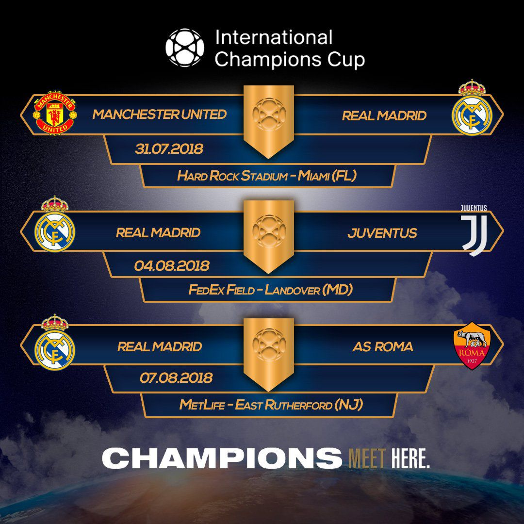 Horarios Real Madrid Champions Cup 2018