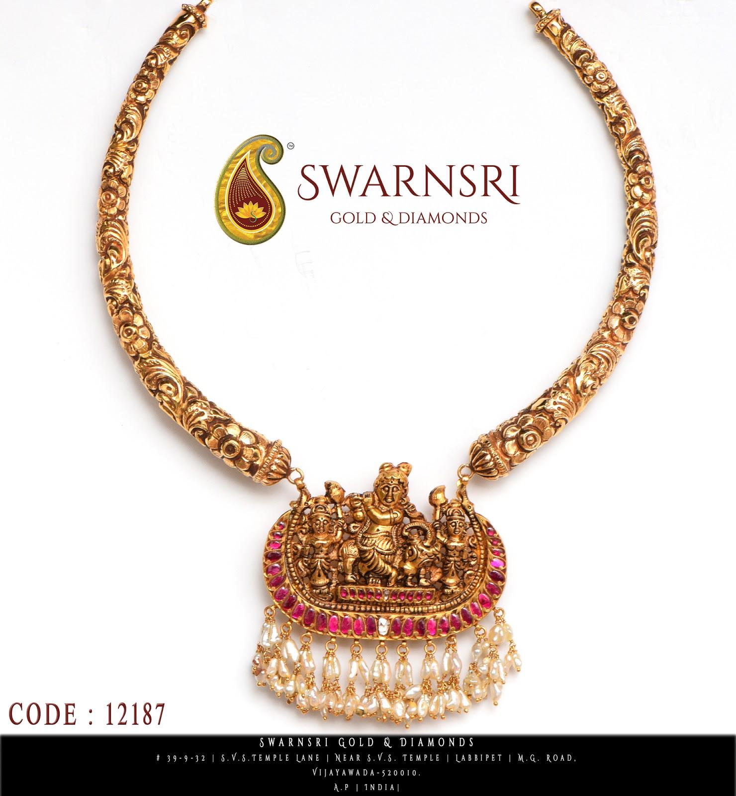 Kanthi design with krishna pendant swarnsri gold diamonds kanthi design with krishna pendant aloadofball Gallery