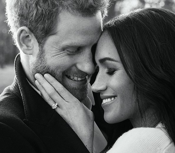 Kensington Palace released two engagement photos of Prince Harry and Meghan Markle