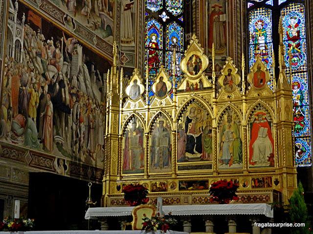 Altar-mor da Basílica de Santa Croce