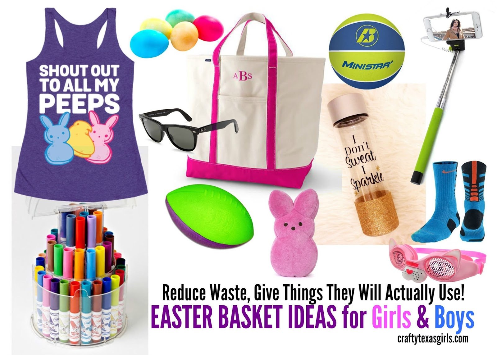 Crafty texas girls easter basket ideas for girls boys reusable to get started choose a basket that you can use again and again i like a natural wood or woven basket one that i can use for storing toys throw blankets negle Image collections