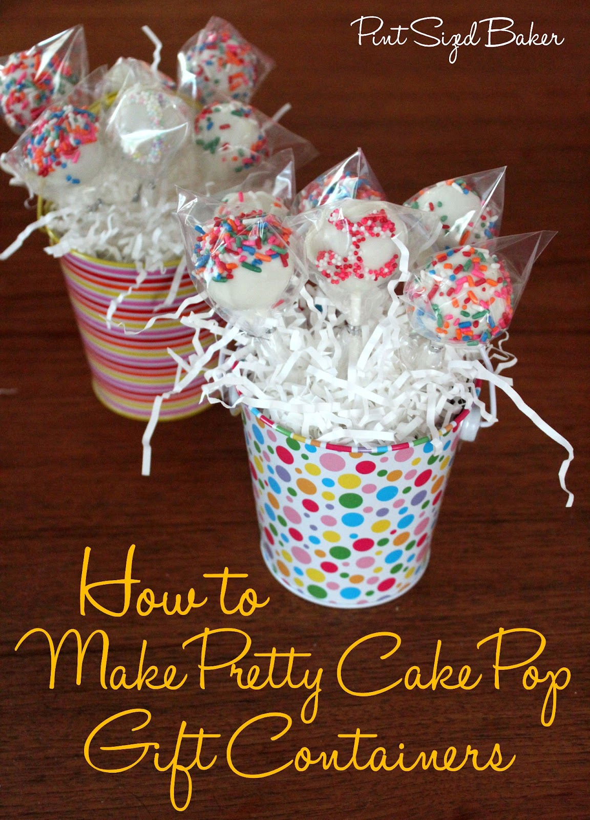 How To Make A Pretty Cake Pop T Container