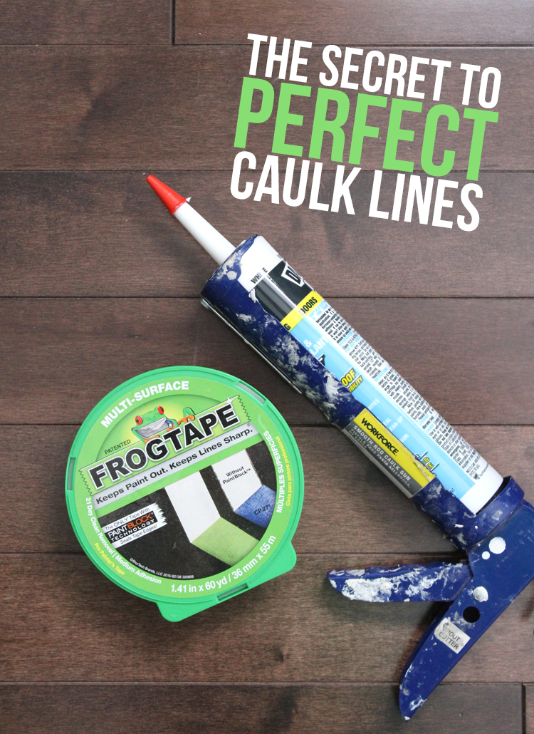 The Trick to Perfect, Crisp Caulk Lines