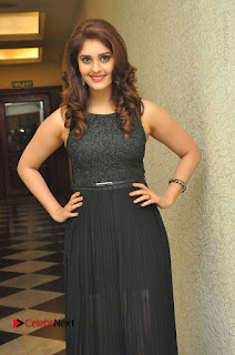 Actress Surabhi Stills in Black Long Dress at turodu Audio Launch  0021.JPG