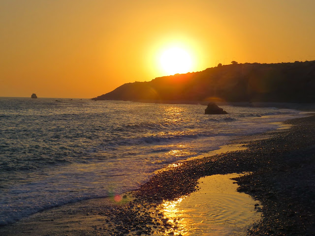 Cyprus Road Trip: Sunset at Aphrodite's Beach
