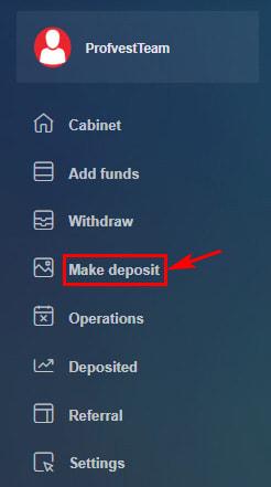 Создание депозита в Statch